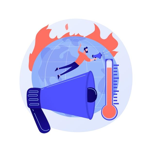 Concept Abstrait De Réchauffement Climatique Vecteur gratuit