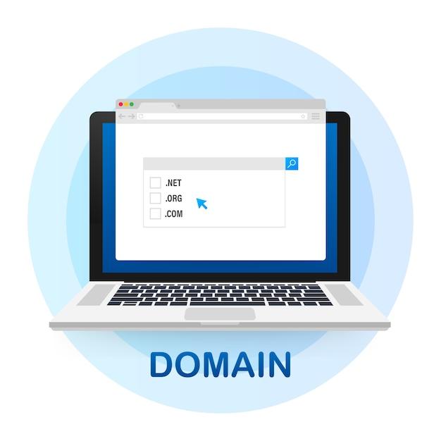 Concept D'achat De Domaines Web Vecteur Premium