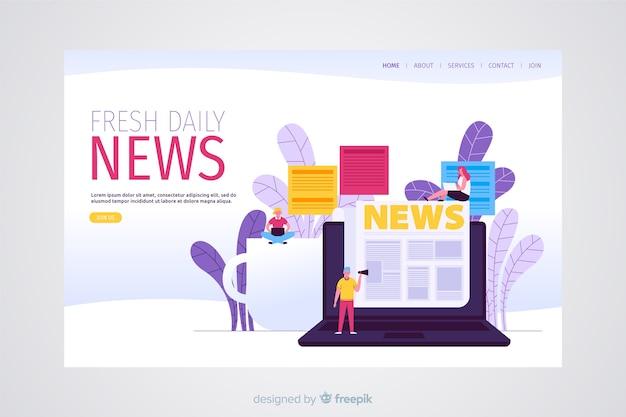 Concept d'actualité pour la page de destination Vecteur gratuit