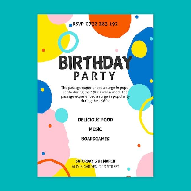 Concept D'affiche D'anniversaire Vecteur gratuit