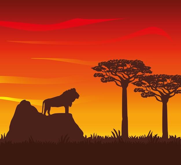 Concept de l'afrique avec le design d'icône Vecteur Premium