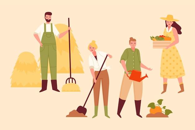 Concept D'agriculture Biologique Vecteur gratuit