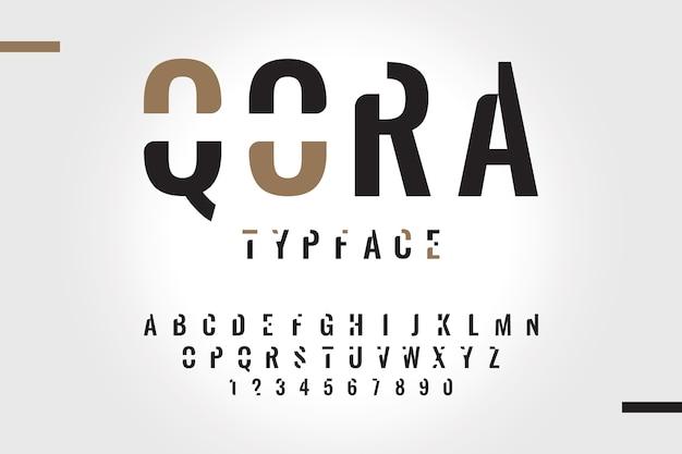 Concept De L'alphabet Minimal Style Abstrait Vecteur gratuit