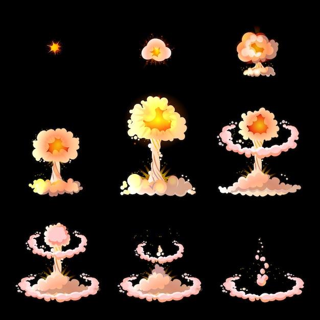 Concept D'animation D'explosion De Dessin Animé Vecteur gratuit