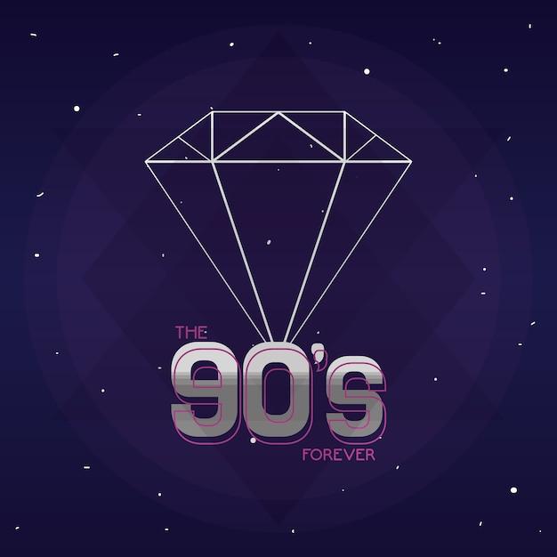 Le concept des années 90 pour toujours Vecteur Premium