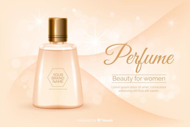 Concept d'annonce de parfum dans un style réaliste Vecteur gratuit