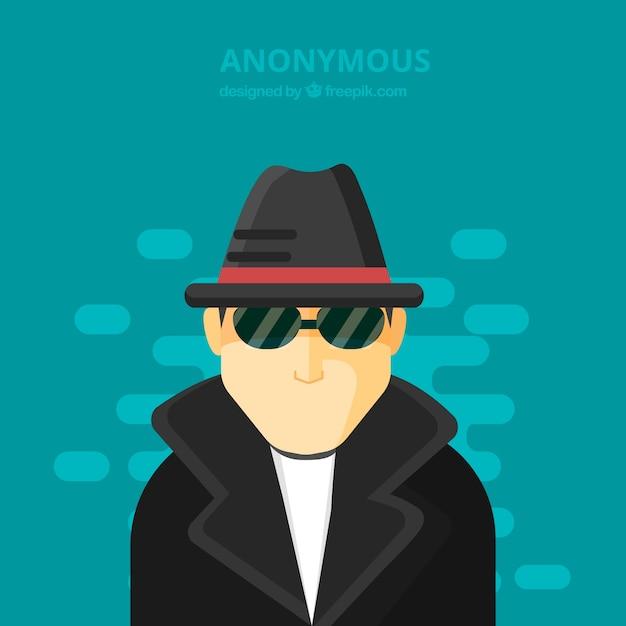 Concept anonyme moderne au design plat Vecteur gratuit