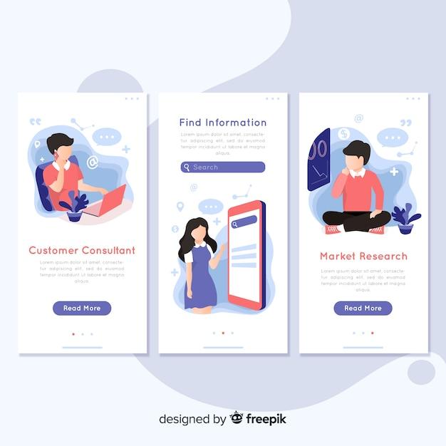 Concept d'application mobile dessiné à la main Vecteur gratuit