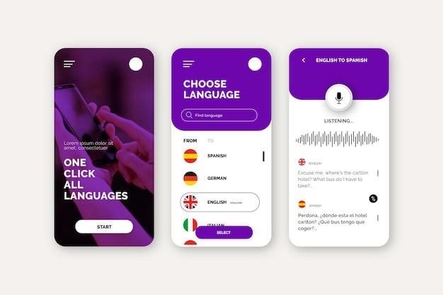 Concept D'application De Traducteur Vocal Vecteur Premium