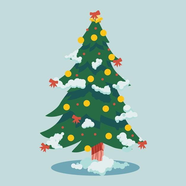 Concept D'arbre De Noël Au Design Plat Vecteur gratuit