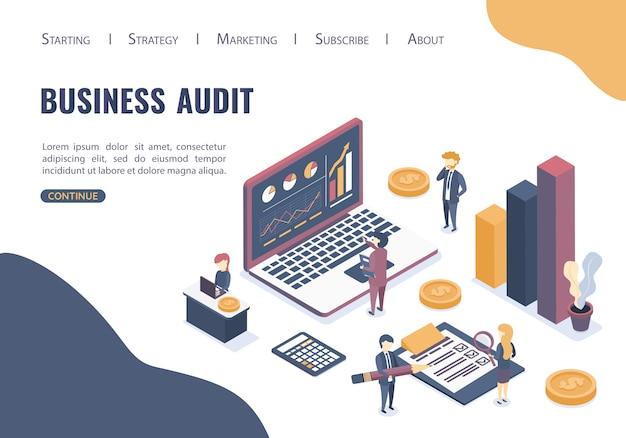 Le Concept D'audit Commercial. Conseils D'audit Professionnels. Style Isométrique. Vecteur Premium