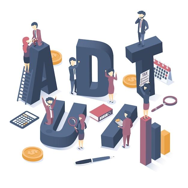 Le concept de l'audit des entreprises. Vecteur Premium