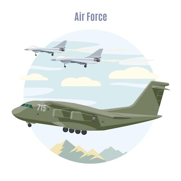 Concept D'aviation Militaire Vecteur gratuit