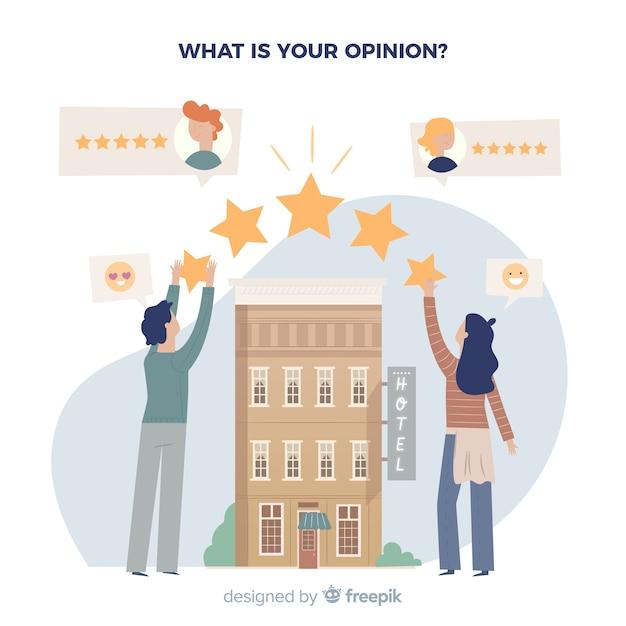 Concept d'avis d'hôtel Vecteur gratuit