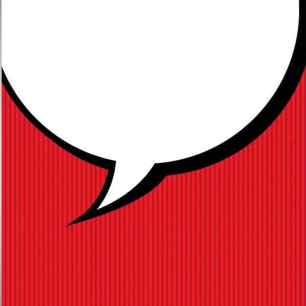 Concept de bande dessinée bulle Vecteur gratuit