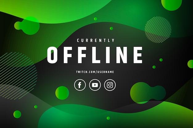 Concept De Bannière Abstraite Twitch Hors Ligne Vecteur gratuit