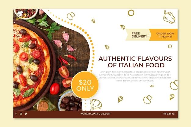 Concept De Bannière De Cuisine Italienne Vecteur gratuit