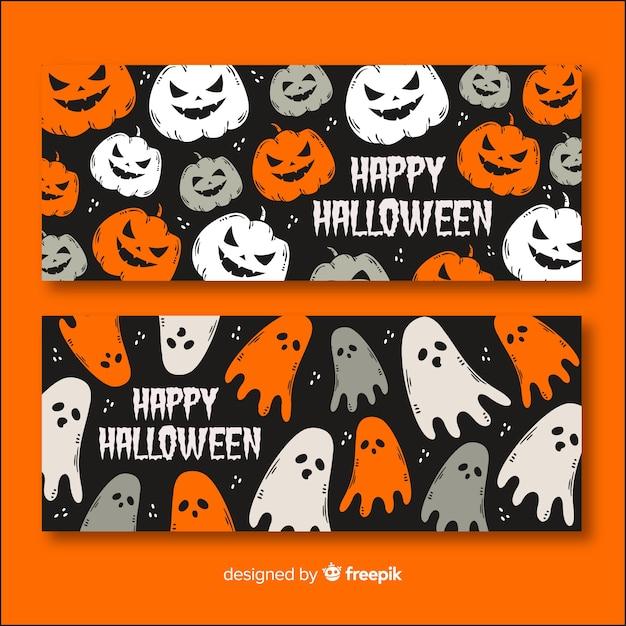 Concept de bannière halloween Vecteur gratuit