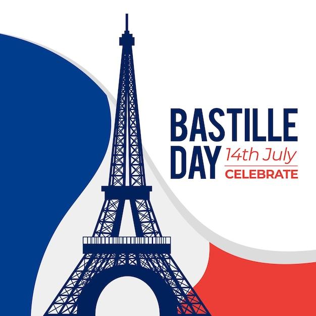 Concept De La Bastille Au Design Plat Vecteur Premium