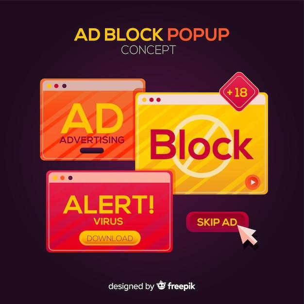 Concept de bloc publicitaire Vecteur gratuit