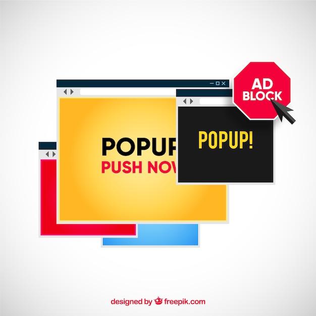 Concept de bloc de publicité moderne avec un design plat Vecteur gratuit