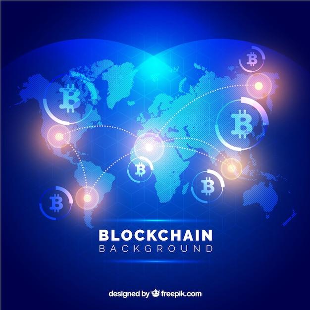 Concept De Blockchain Vecteur gratuit