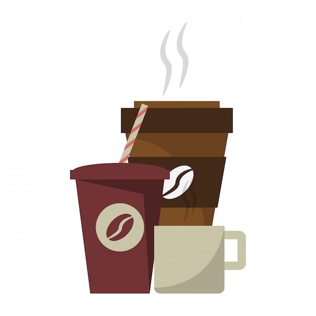 Concept de boissons au café Vecteur Premium