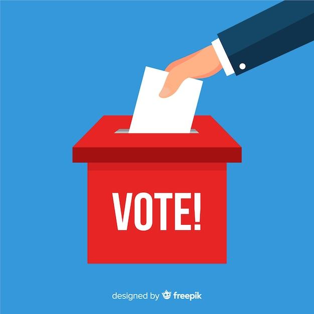 Concept de boîte d'élection Vecteur gratuit