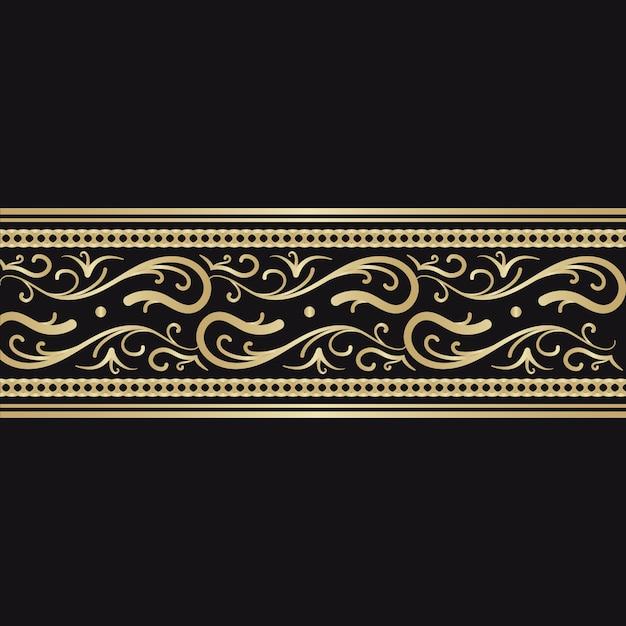 Concept de bordure ornementale dorée Vecteur gratuit