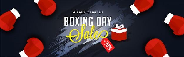 Concept De Boxing Day. Vecteur Premium
