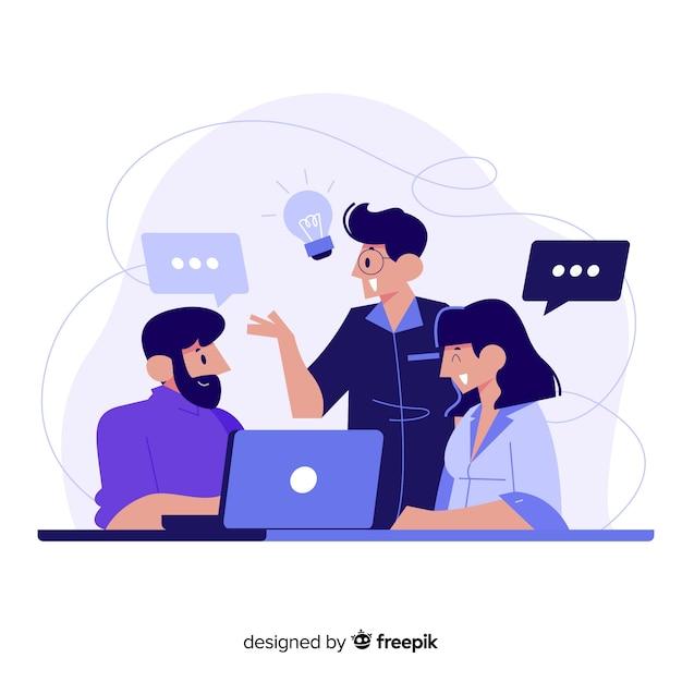 Concept De Brainstorming Pour Landing Page Vecteur gratuit