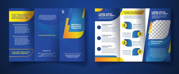 Concept De Brochure à Trois Volets Abstrait Vecteur gratuit