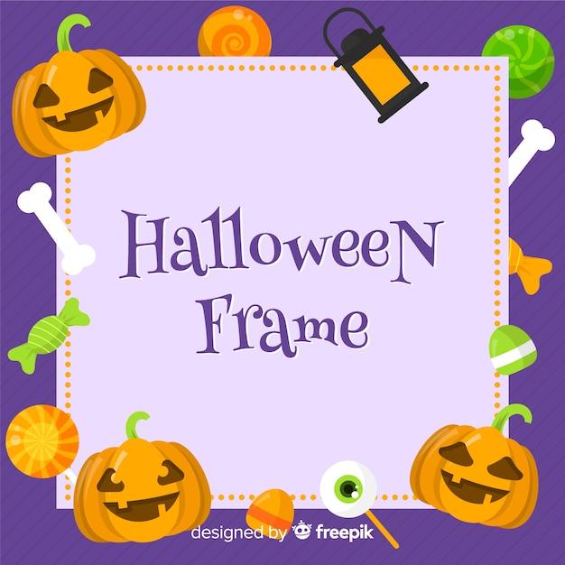 Concept de cadre halloween moderne Vecteur gratuit