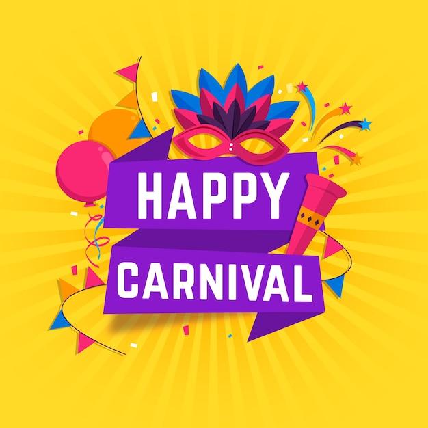 Concept De Carnaval Design Plat Vecteur gratuit