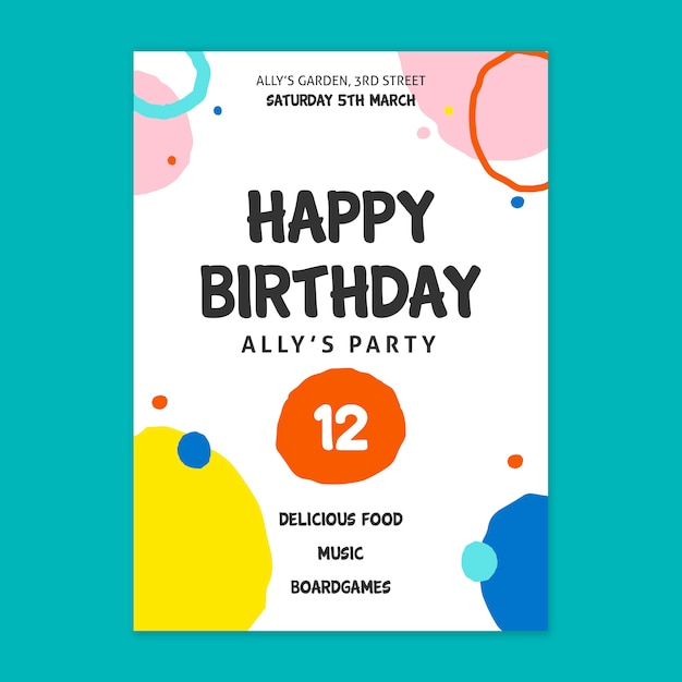 Concept De Carte D'anniversaire Vecteur gratuit