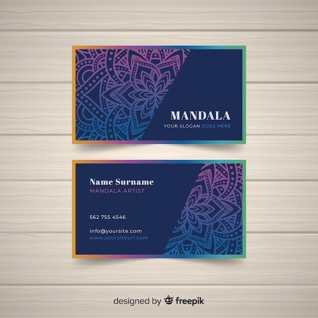 Concept de carte de visite élégant mandala Vecteur gratuit