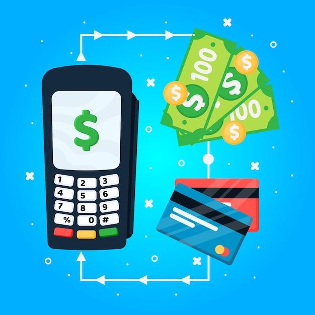 Concept Cashabck Avec Cartes De Crédit Vecteur gratuit