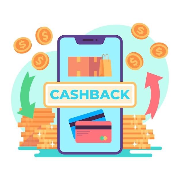 Concept De Cashback Illustré Vecteur gratuit