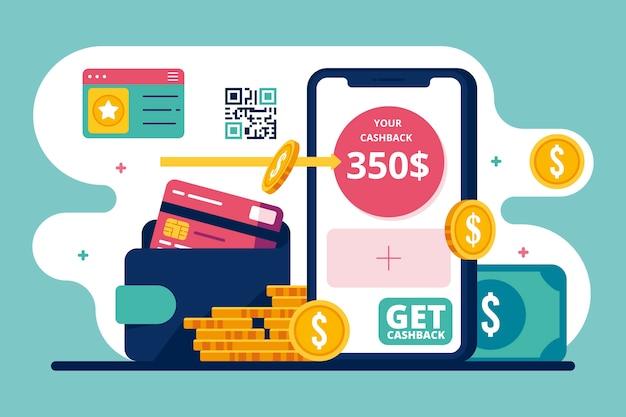 Concept De Cashback Vecteur gratuit