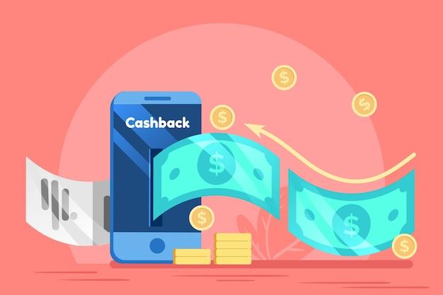 Concept De Cashback Vecteur Premium