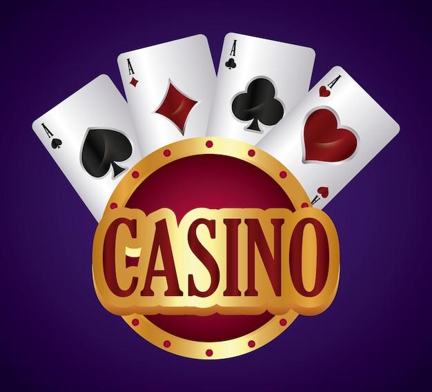 Concept de casino Vecteur gratuit
