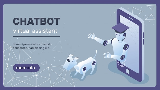 Concept de chatbot Vecteur Premium