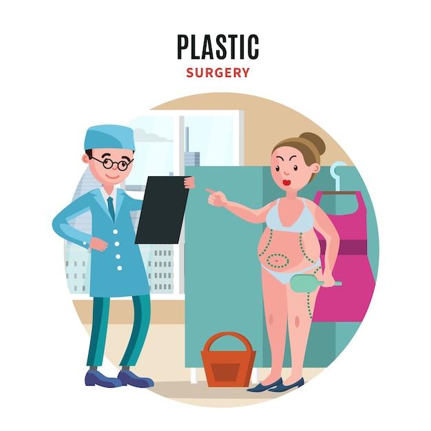 Concept De Chirurgie Plastique Vecteur gratuit
