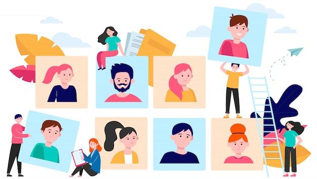 Concept De Choix Des Talents Vecteur gratuit
