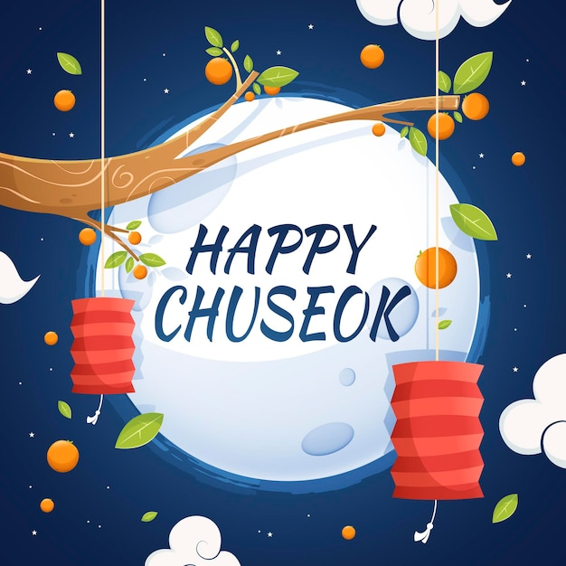 Concept Chuseok Au Design Plat Vecteur gratuit