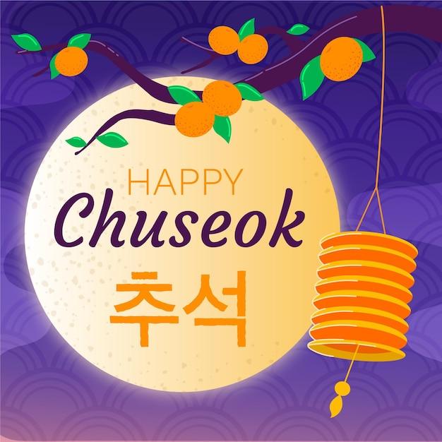 Concept De Chuseok Dessiné à La Main Vecteur gratuit