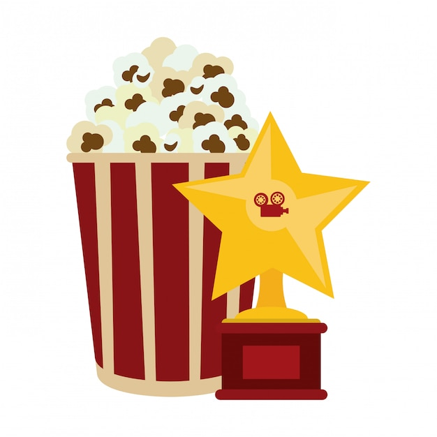Concept de cinéma et de cinéma Vecteur Premium