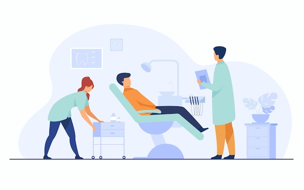 Concept De Clinique Dentaire Vecteur gratuit
