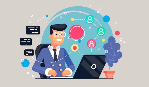 Concept de code pour les étudiants utilisant des ordinateurs portables pour développer des programmes et des applications. concept logiciel. Vecteur Premium