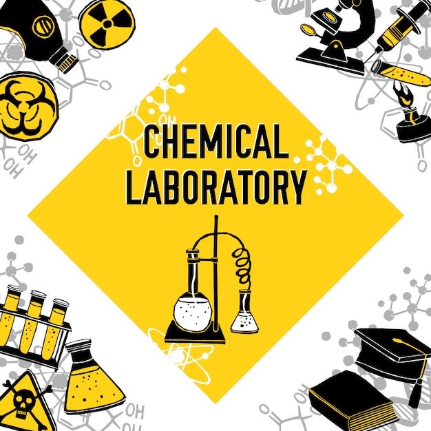 Concept de coin de laboratoire Vecteur gratuit